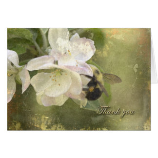 Apple Blossoms and Bumblebee Card