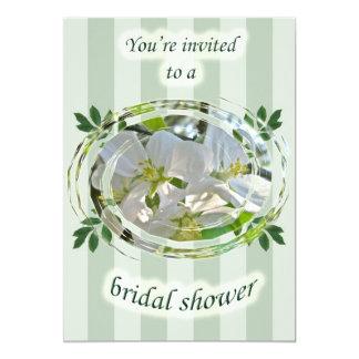 Apple Blossoms Bridal Shower Floral Invitation