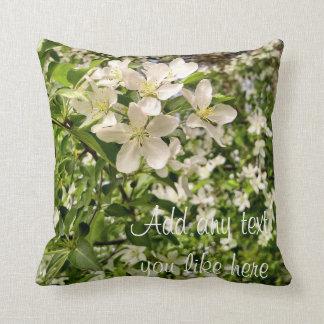 Apple blossoms pillow