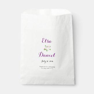 Apple Blossoms Wedding Favour Bags