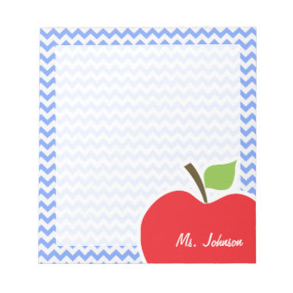 Apple; Blue Chevron Notepad