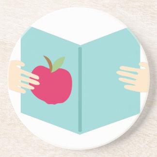 Apple Book Coasters