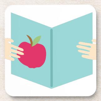 Apple Book Drink Coaster