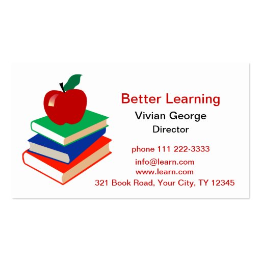 Apple Books Education Double Sided Standard Business
