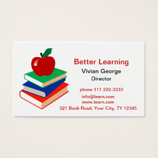 Apple, Books, Education Business Card