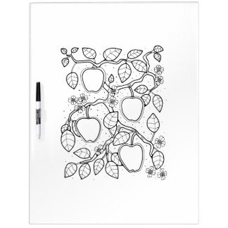 Apple Branch Adult Coloring Dry Erase Board