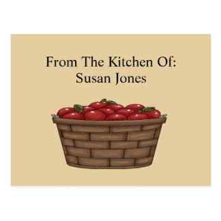 Apple Bushel Basket Recipe  Card