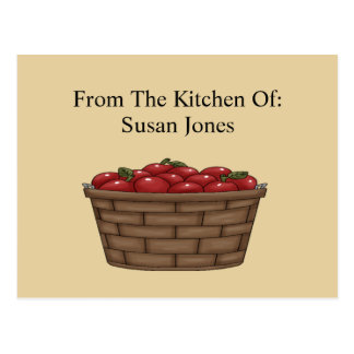 Apple Bushel Basket Recipe  Card Postcard
