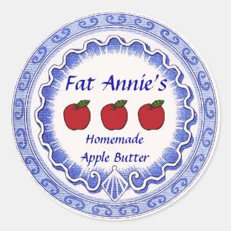 Apple Butter Label Round Sticker
