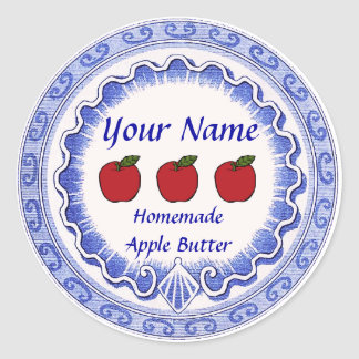 Apple Butter Personalize Classic Round Sticker