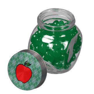 Apple Candy Jar Glass Candy Jar