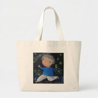 Apple catcher jumbo tote bag