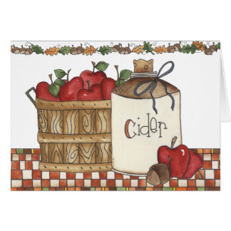 apple cider and apple picking card