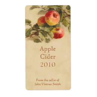Apple cider bottle label shipping label