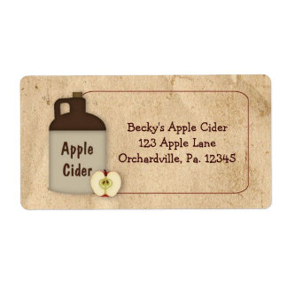 Apple Cider Business Label Shipping Label