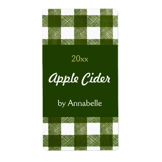 Apple cider canning label
