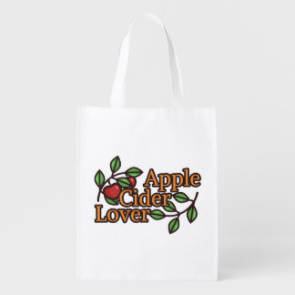 Apple Cider Lover Reusable Grocery Bag