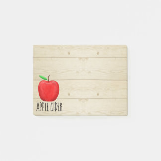 Apple Cider Red Apple Post-it Notes