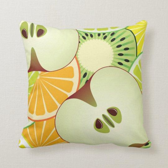 Apple Citrus & Kiwi Pattern Cushion