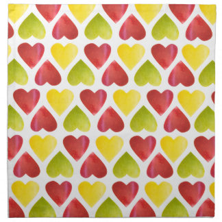 Apple colorful hearts pattern napkin