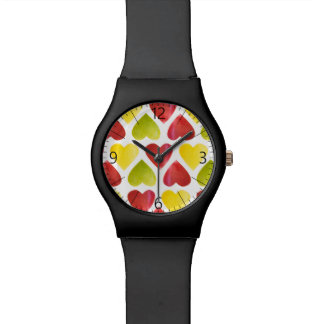 Apple colorful hearts pattern watch