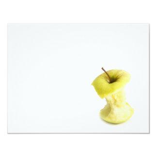 Apple core 11 cm x 14 cm invitation card