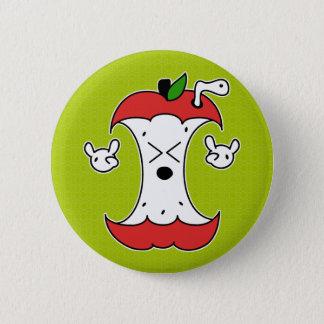 Apple Core 6 Cm Round Badge
