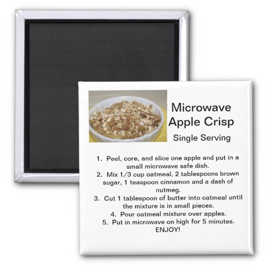 Apple Crisp Recipe Magnet