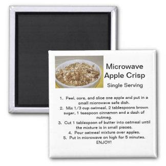 Apple Crisp Recipe Square Magnet