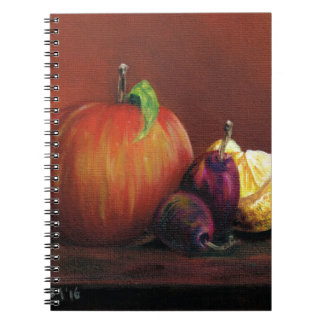 Apple, Damson and Lemon Note Book