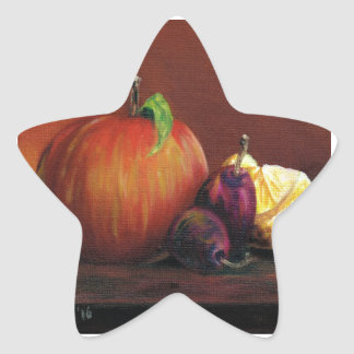 Apple, Damson and Lemon Star Sticker