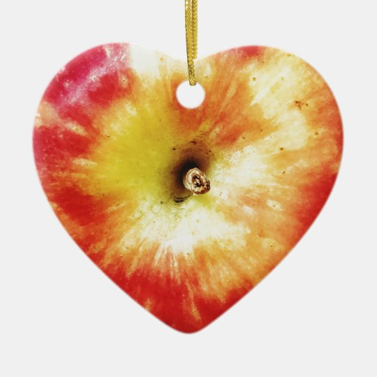 Apple Dble-sided Heart Ornanent Christmas Ornament