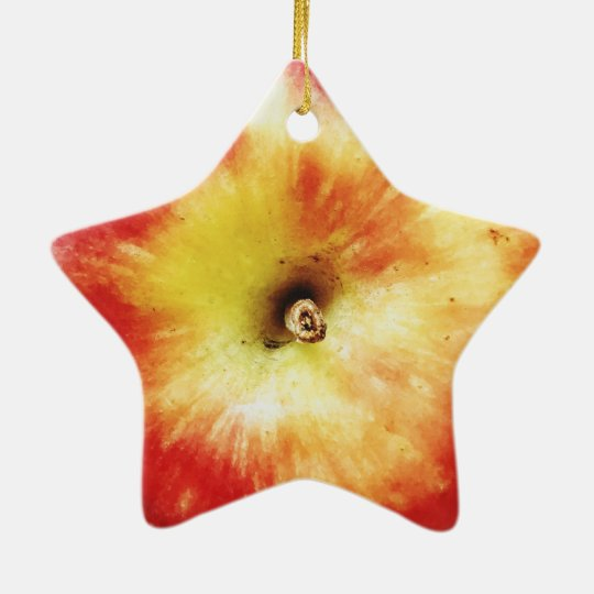 Apple Dble-Sided Star Ornament