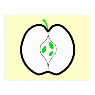 Apple Design in Green, Black and White. Postcard