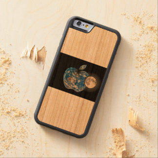 APPLE EARTH WOOD CARVED CHERRY iPhone 6 BUMPER CASE