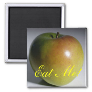 Apple, Eat Me! Square Magnet