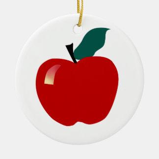 Apple, Educational Round Ceramic Decoration