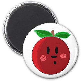 Apple Face 6 Cm Round Magnet