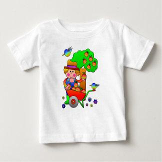 Apple Farmer Gathering His Apple Harvest Baby T-Shirt