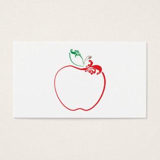 apple flourish business card