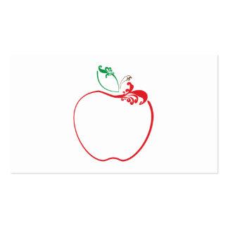 apple flourish pack of standard business cards