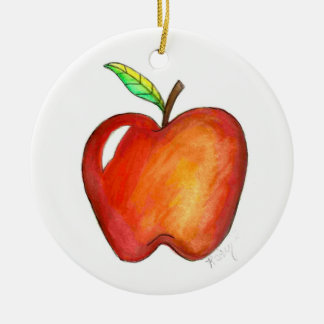 Apple for My Teacher School Education Class Gift Christmas Ornament