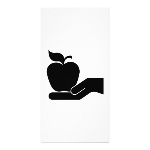 Apple for Teacher Personalized Photo Card
