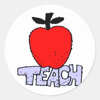 Apple For Teacher Round Sticker