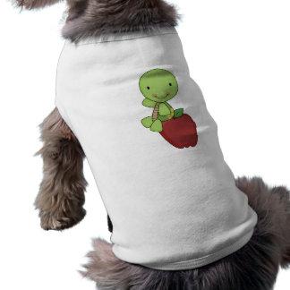 apple for teacher turtle sleeveless dog shirt