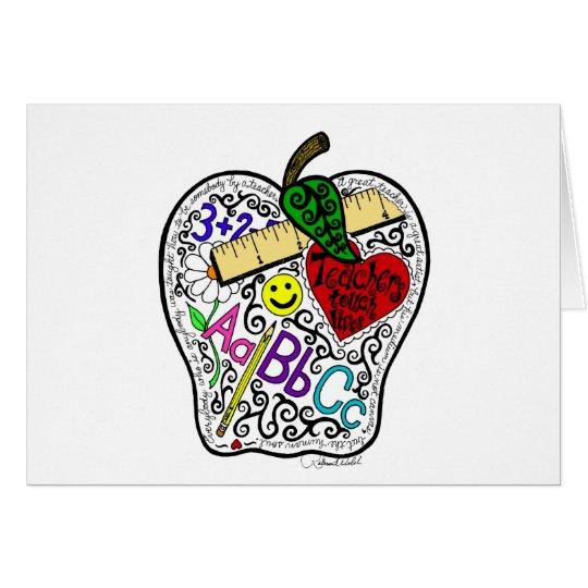 Apple for the teacher card