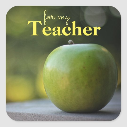 Apple for the Teacher Gift Tag Stickers