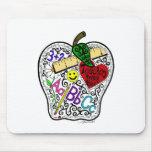 Apple for the teacher mousepads
