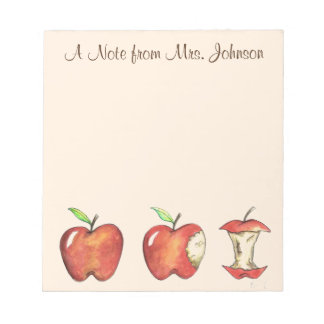 Apple for the Teacher Personalized Apples Notepad