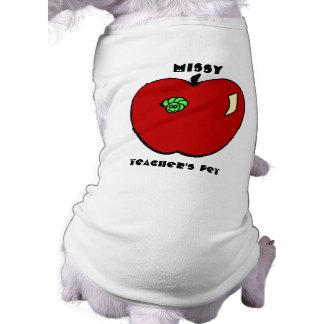 Apple for the Teacher Pet Apparel Dog Tee Shirt